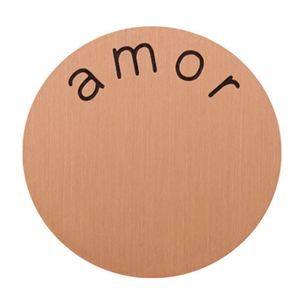 Picture of 'Amor' Large Rose Gold Coin